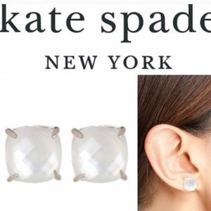 Kate Spade White Square Stud Earrings
